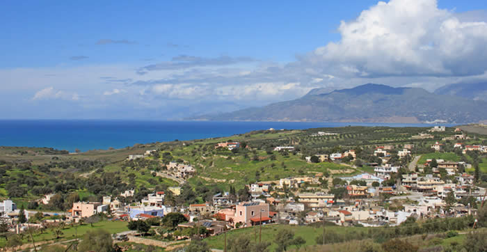 Pitsidia village in the South of Crete